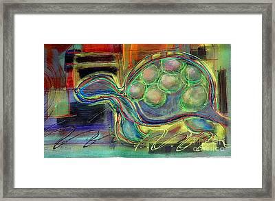 Blue Hawain Turtle Framed Print