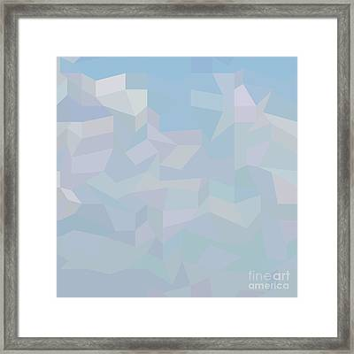 Blue Haze Abstract Low Polygon Background Framed Print