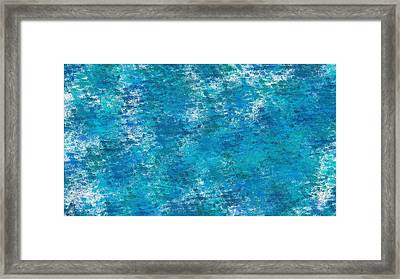 Framed Print featuring the digital art Blue Haze... by Tim Fillingim