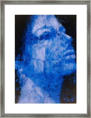 Blue Head Framed Print