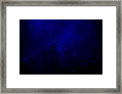 Blue Hearts Framed Print