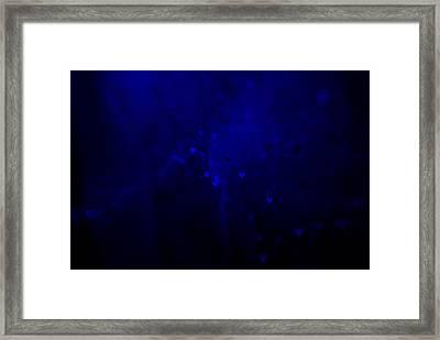 Blue Hearts Framed Print by Beverly Stapleton