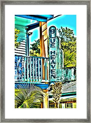 Blue Heaven In Key West - 1 Framed Print by Susanne Van Hulst