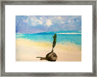 Framed Print featuring the painting Blue Heaven by Ed  Heaton