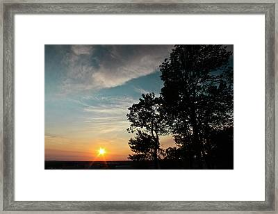 Blue Heaven Sunset Framed Print by Julie Andel