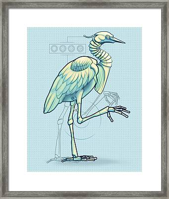 Blue Heron 3000 Framed Print by Vanessa Bates