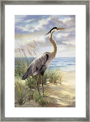 Blue Heron Deux Framed Print