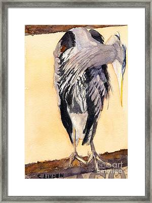 Blue Heron - Left Framed Print