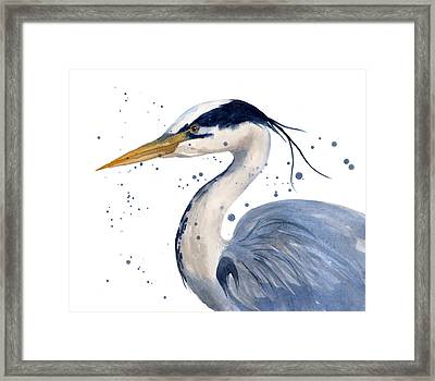 Blue Heron Painting Framed Print
