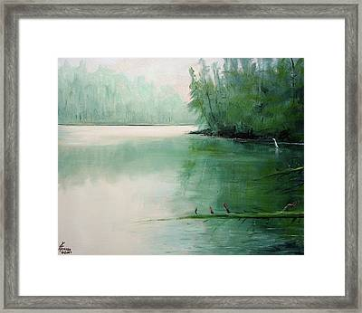 Blue Heron Watch Framed Print by Kenny Henson