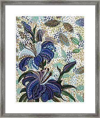 Blue Hibiscus Framed Print by Erika Pochybova