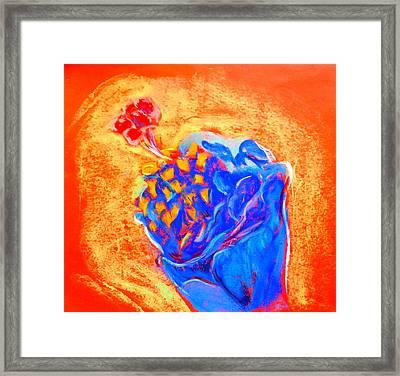 Blue Hibiscus Framed Print