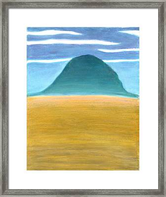 Blue Hill Framed Print