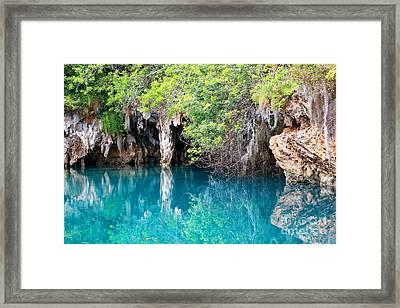Blue Hole Framed Print by Charline Xia