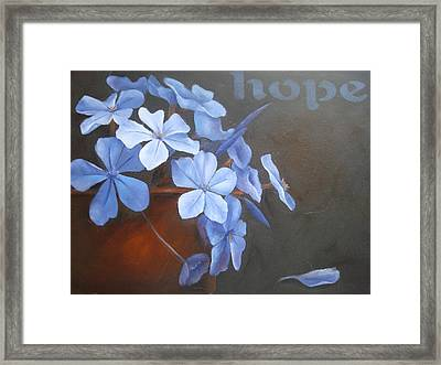 Blue Hope Framed Print by Sharron White