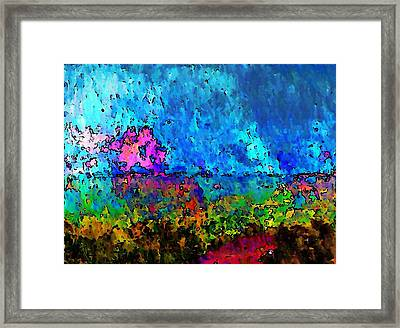 Blue Horizon Two Framed Print