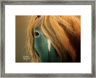 Blue Horse Framed Print by Heather Gessell