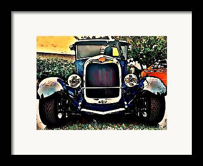 Car Hod Digital Art Framed Prints