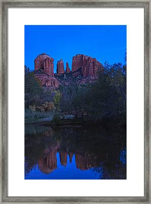 Blue Hour At Cathedral Rock Framed Print by Medicine Tree Studios