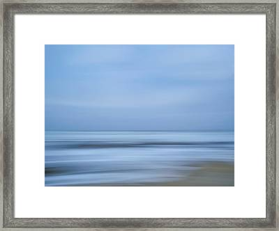 Blue Hour Beach Abstract Framed Print
