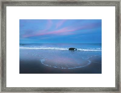 Blue Hour Beach Framed Print by Bill Wakeley