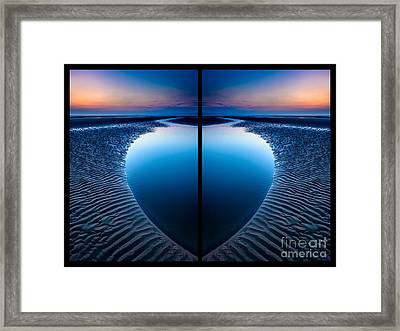 Blue Hour Diptych Framed Print by Adrian Evans