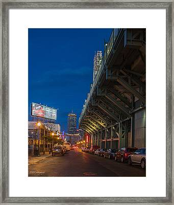 Blue Hour Fenway Framed Print