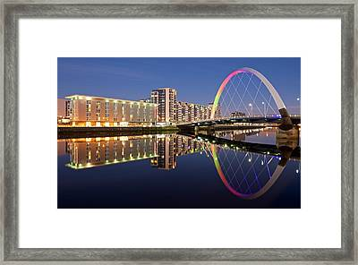 Blue Hour In Glasgow Framed Print