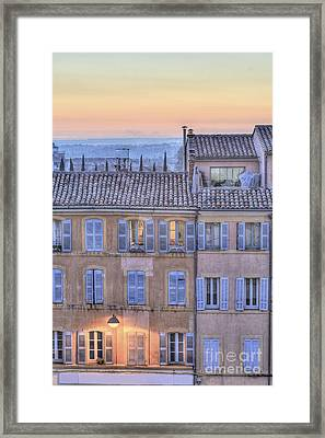 Blue Hour In Provence Framed Print