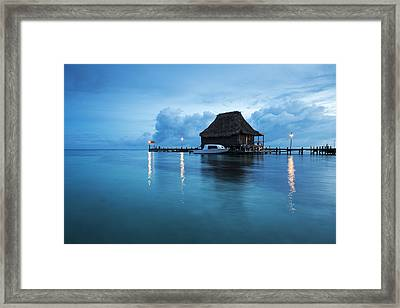 Blue Hour Landscape Framed Print