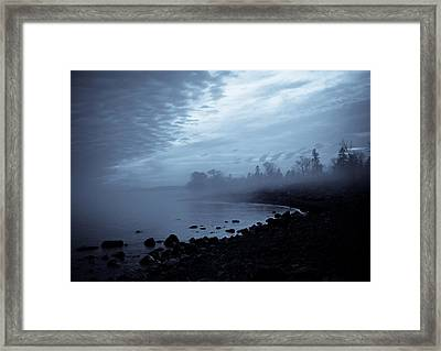 Blue Hour Mist Framed Print by Mary Amerman