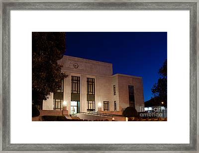 Blue Hour Mitchell County Courthouse Framed Print by Ben Sellars