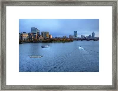 Blue Hour On The Charles Framed Print by Joann Vitali