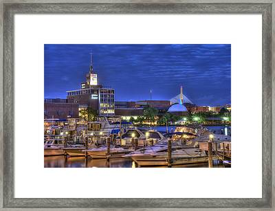 Blue Hour On The Charles River - Boston Framed Print