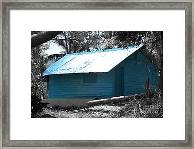 Blue House  Framed Print by Bobby Mandal