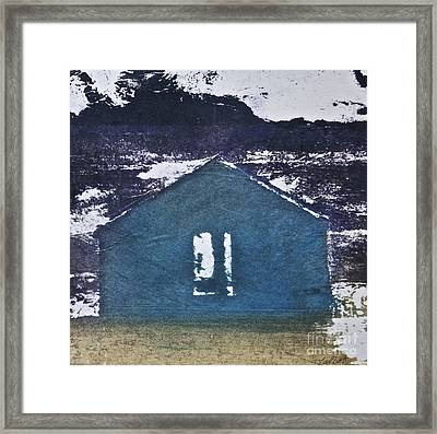 Blue House Framed Print by Deborah Talbot - Kostisin