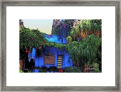 Blue House Of  Marrakech Framed Print by Linda  Parker