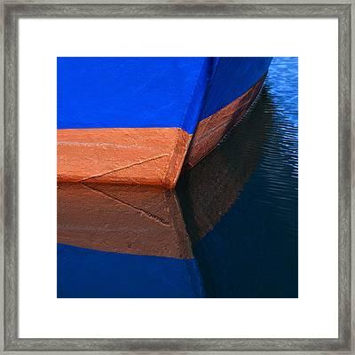 Blue Hull Framed Print by Carol Leigh