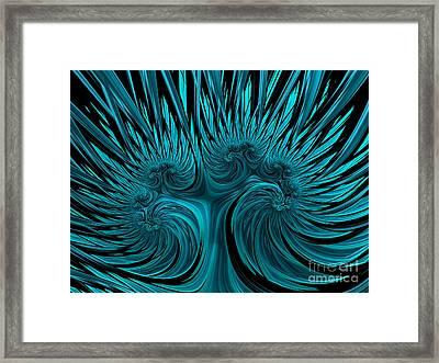 Blue Hydra Framed Print