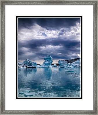 Blue Ice 2 Framed Print