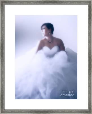 Blue Ice Framed Print by Barbara D Richards
