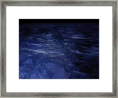 Blue Ice Planet Framed Print by Jaime Neo