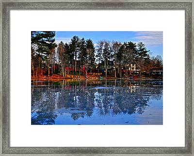 Blue Ice Framed Print by Frozen in Time Fine Art Photography