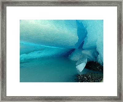 Blue Ice Framed Print by Susan Stephenson