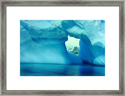 Blue Iceberg Antarctica Framed Print