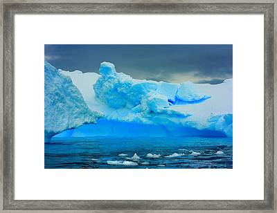 Framed Print featuring the photograph Blue Icebergs by Amanda Stadther