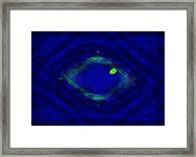 Blue Identity Weave Framed Print by Mathilde Vhargon