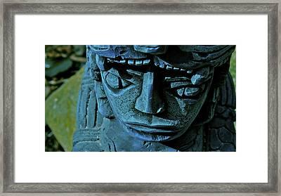 Blue Idol Framed Print
