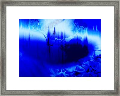 Deep Blue Framed Print by Kellice Swaggerty