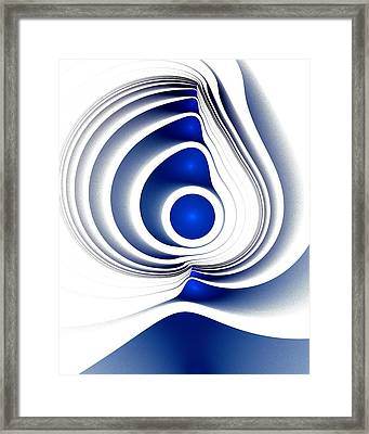Blue Imprint Framed Print by Anastasiya Malakhova